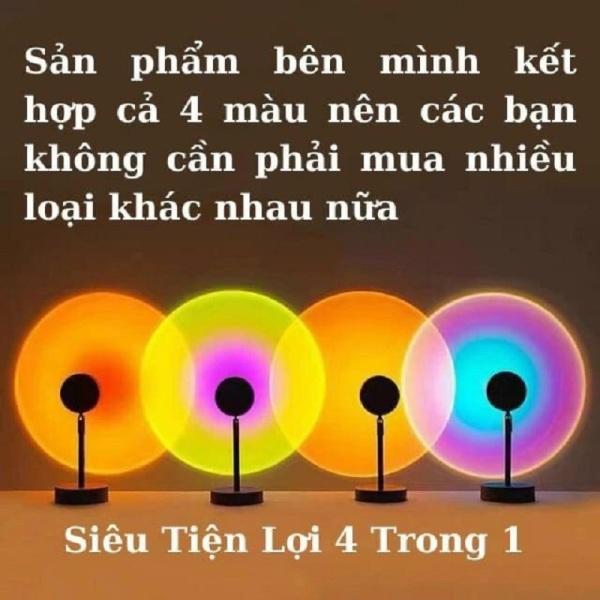 Bảng giá Đèn Hoàng Hôn - Sunset Lamp Loại 4 Màu, 16 Màu Nhiều Màu - Đèn Cầu Vồng Trang Trí Chụp Ảnh