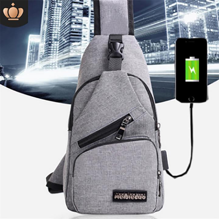 Túi ( Ba Lô ) đeo Chéo Nam Cao Cấp Tích Hợp Cổng Sạc USB Ngoài Giá Tốt Giá Cực Ngầu