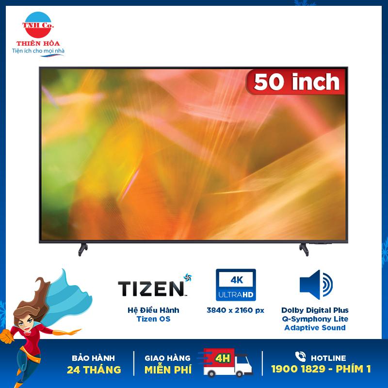 Smart tivi Samsung Crystal UHD 4K 50 inch UA50AU7000KXXV chính hãng
