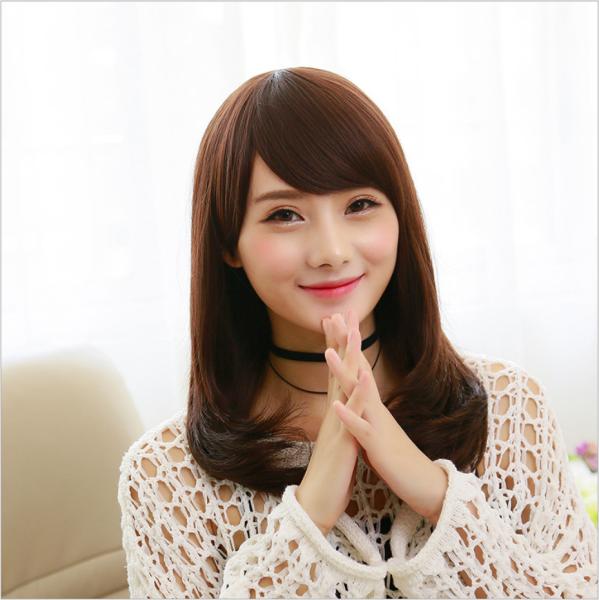 [TẶNG KÈM LƯỚI] Tóc giả nữ sợi tơ trùm nguyên đầu Hàn Quốc - TG27 ( MÀU NÂU VÀNG )