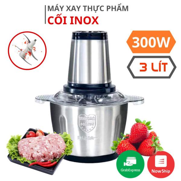 Máy Xay Thịt Cối Inox 300W Dung Tích 3L Công Suất Lớn – Tặng Phiếu Bảo Hành 1 Năm Toàn Quốc