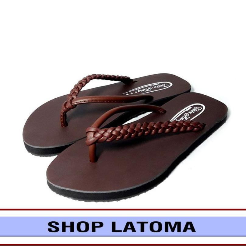 Dép nữ xỏ ngón quai bính thời trang Latoma TA0161 (Nâu) giá rẻ