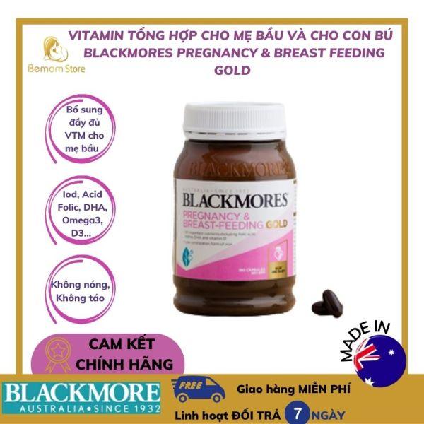 [FREESHIP & QUÀ TẶNG] Viên Vitamin tổng hợp  cho mẹ bầu và cho con bú Blackmores Pregnancy & Breast-Feeding Gold của Úc (180v) chính hãng tại Bemom Store