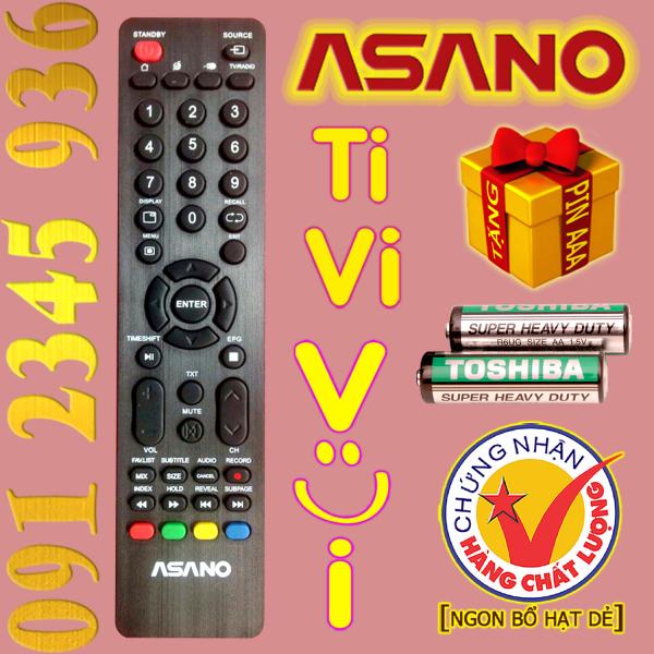 Bảng giá Điều khiển ASANO cho Tivi Smart. (Mẫu số 2)