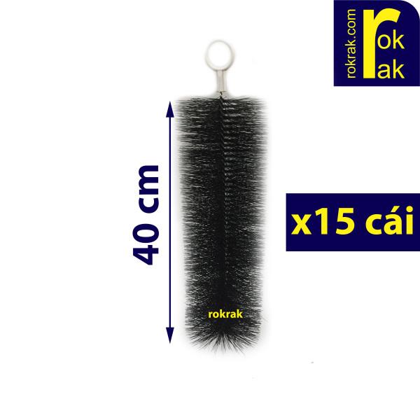 Combo 15 Chổi lọc 40 cm siêu bền cán nhựa hoặc inox cho hồ cá