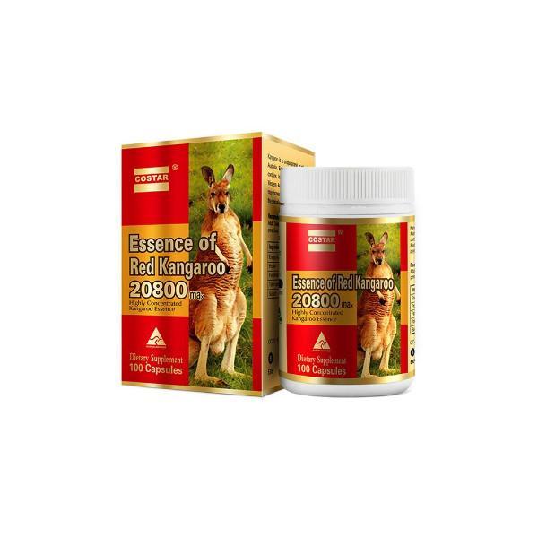 Thực phẩm chức năng Viên uống tinh chất Costar Essence of Red Kangaroo 28000 max, hỗ trợ tăng cường sinh lực nam giới (100 viên) - Nhập khẩu Australia
