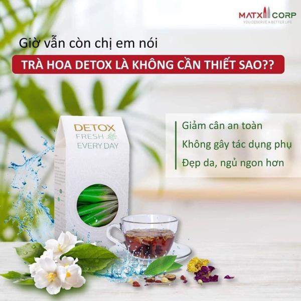 Trà Hoa Giảm Cân Go Detox Tách lẻ Combo Go Detox) giá rẻ