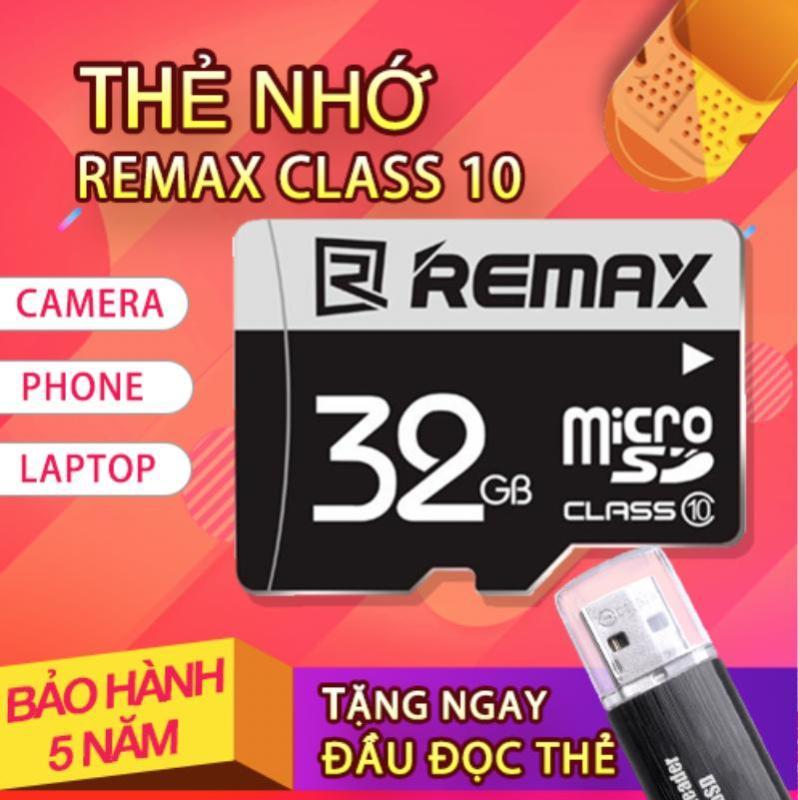 Thẻ nhớ Micro SDHC Remax 32GB Class 10 [Tặng Đầu Đọc Thẻ]