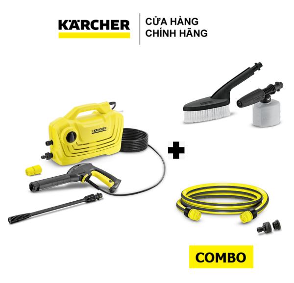 Combo Máy phun rửa áp lực K2 Classic, Bộ đầu chà bình xịt và Dây cấp nước 1.5m