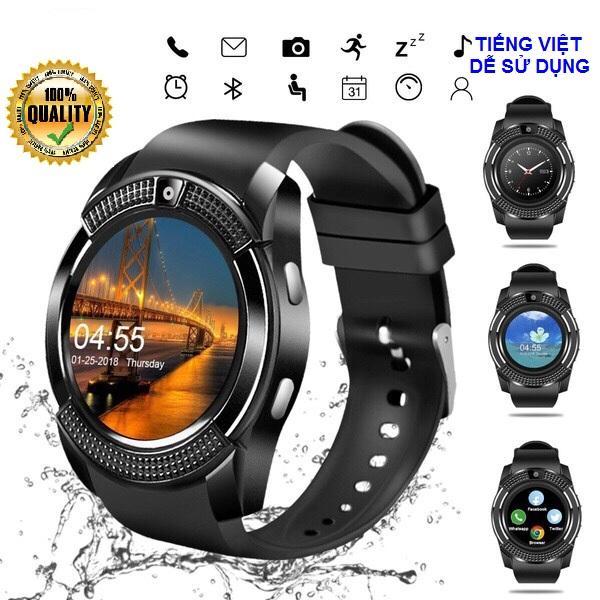Đồng hồ thông minh giá rẻ - Đồng hồ thông minh Smart Watch V8 Cao cấp TIẾNG VIỆT, Đồng hồ thông minh trẻ em, Đồng hồ thông minh có wifi, Vòng tay thông minh(Tương tự dòng đồng hồ thông minh x6, đồng hồ thông minh Y1) bán chạy