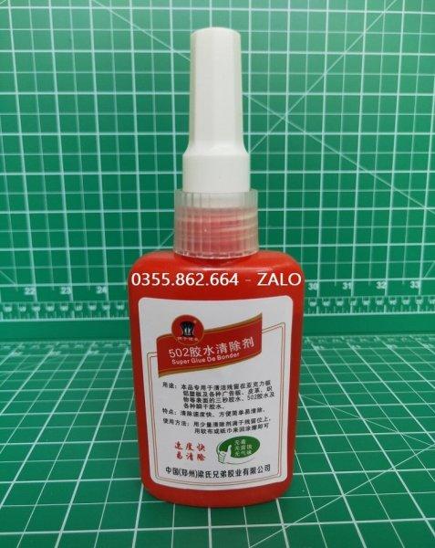 Nước tẩy keo 502 trên mica và alu không vệt - dung dịch tẩy keo 502