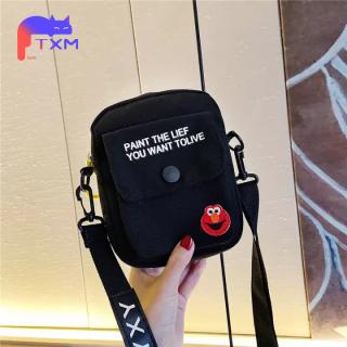 INS Korean Girls Shoudler Bag Small Square Bag- Durable Canvas Messenger Bag, Fashion Simple Crossbody Bag Mini Cartoon Bag thumbnail
