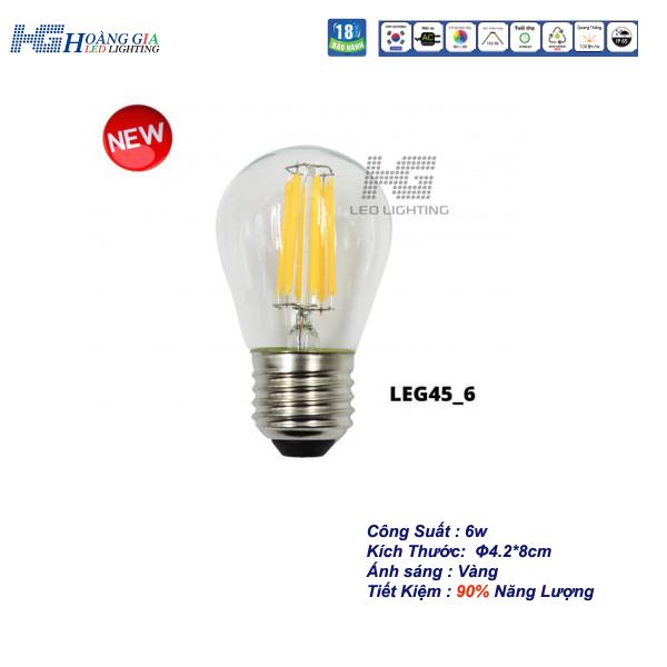 Đèn LED Trang Trí Edison G45 6W