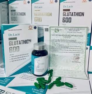 [HCM]Viên Uống Trắng Da (MẪU MỚI) GLUTATHION 600 Giúp Trắng Da Mờ Nám thumbnail