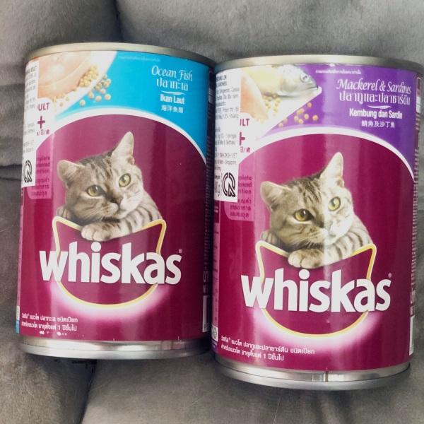 Pate lon cho mèo trên 1 tuổi Whiskas 400g