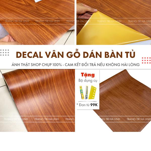 Decal giả gỗ chuyên dán tủ bàn chống nước , giấy dán tường vân gỗ đẹp nhiều mẫu giá rẻ