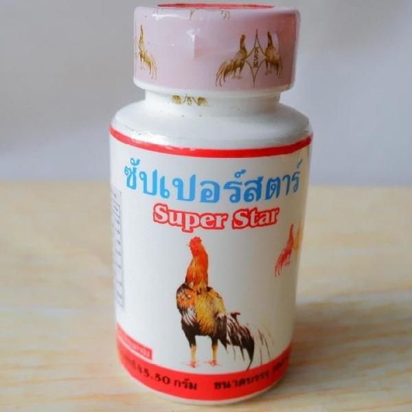 Super Star đỏ[lọ 100v]Bồi bổ gân gối,Tăng cường chức năng gân cho gà đá-thuốc nuôi gà đá Thái Lan số 1 hiện nay.