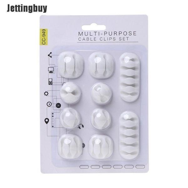 Bảng giá Jettingbuy Bộ 10 cái kẹp tự dính bằng chất liệu TPR kích thước 22*15cm để giữ dây cáp thích hợp sử dụng tại nhà hoặc văn phòng - INTL