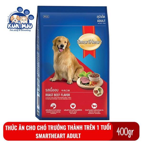 Thức ăn cho chó trưởng thành trên 1 tuổi Smartheart Adult Túi 400gr