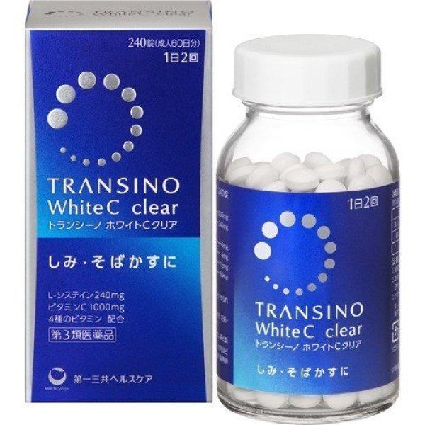 VIÊN UỐNG TRANSINO WHITE C CLEAR MÀU XANH TRẮNG DA GIẢM NÁM  240 VIÊN