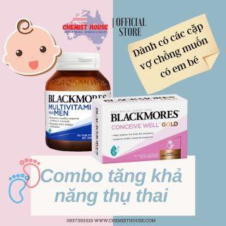 Combo Tăng khả năng thụ thai + Vitamin tổng hợp cho nam giới Blackmores Úc thumbnail