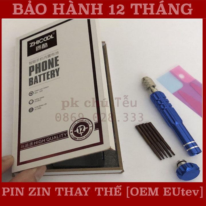 Pin iphone 5/Thay pin iphone 5. Bảo hành 12 tháng (Tặng Tô vít+que chọc sim+siu gắn pin)