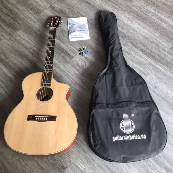 Guitar SV-A1 cho người mới tập chơi - tặng phụ kiện : bao chống xước, giáo trình học, phím gảy Alice, dây 1, dây 2