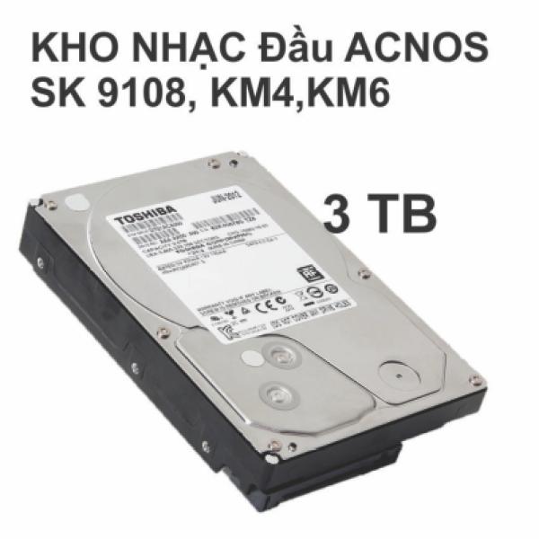 Bảng giá [HCM]Ổ Cứng Kho Nhạc karaoke Dành Cho Đầu Acnos HDD 3TB Phong Vũ