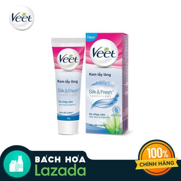 Kem tẩy lông cho da nhạy cảm Veet Silk Fresh 25g