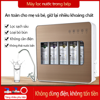 Máy lọc nước gia dụng máy lọc nước tại vòi lõi 5 lớp dùng cho nhà bếp máy lọc không cần dùng điện thumbnail