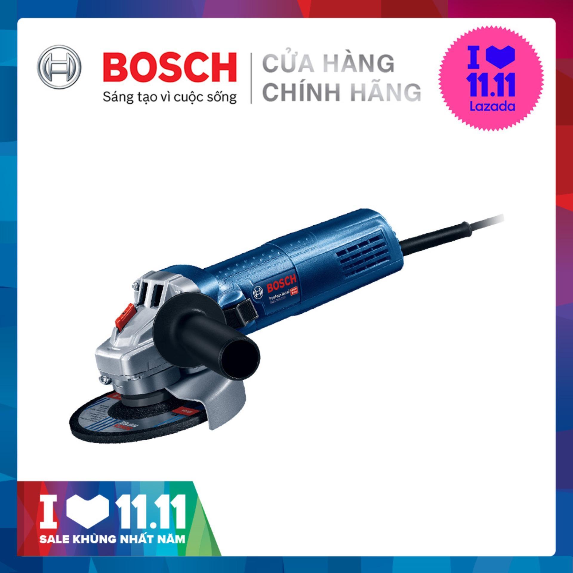Máy mài góc Bosch GWS 750-100 Freedom set (kèm 2 đĩa kim cương, 1 cặp than, hộp dụng cụ)