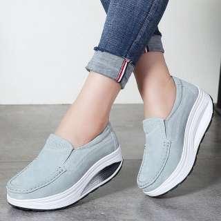 Giày Thể Thao Nữ DOSREAL Giày Đế Bằng Nữ Thời Trang Cỡ Lớn 35-41 Giày Da Nữ Thoáng Khí Thường Ngày Giày Thuyền Nữ