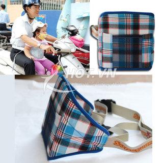 [HÀNG VIỆT NAM] Đai đi xe máy an toàn cho bé hàng Việt Nam - Đai nịch đi xe máy an toàn cho bé - Điều chỉnh được kích thước - Bảo vệ an toàn cho con và gia đình thumbnail