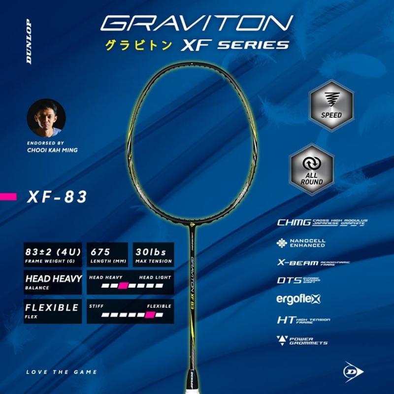 Bảng giá Vợt cầu lông Dunlop - GRAVITON XF83 G1 NH NF Vợt cầu lông chính hãng thương hiệu từ Anh Quốc