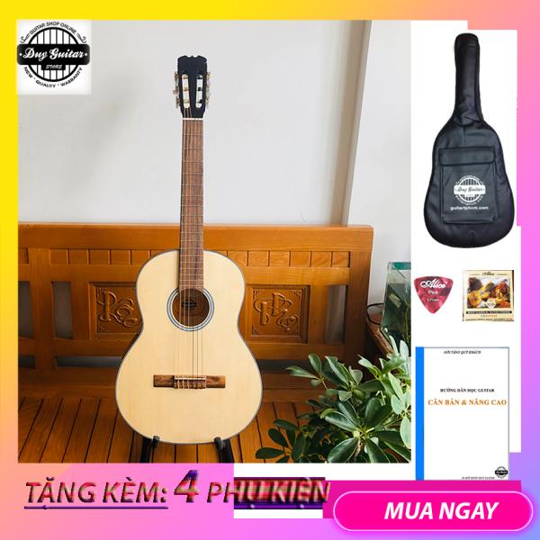 Đàn guitar Classic DVE70C dành cho bạn mới tập cho âm thanh cổ điển ấm áp  + Bao da, Tặng phụ kiện Duy Guitar - Shop đàn ghita cổ điển giá tốt dành cho bạn mới tập