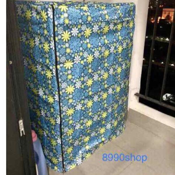 Áo trùm máy giặt cửa trên 9 - 10kg vải dù dày dặn chống rách chống thấm dây kéo chắc chắn