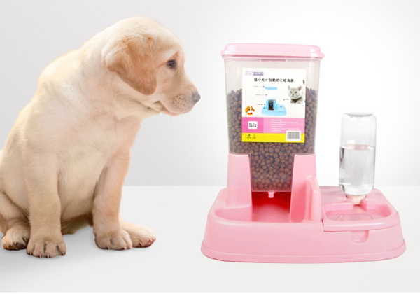 Bát ăn và bình nước uống tự động cho chó mèo 2 trong 1, tiện lợi khi sử dụng