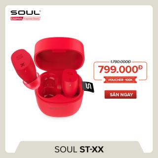 Tai Nghe True Wireless Soul ST-XX Bluetooth v5.0 - Điều Khiển Cảm Ứng - Chống Nước IPX5 - 20 Giờ Sử Dụng SS52BK - Hãng Phân Phối Chính Thức thumbnail