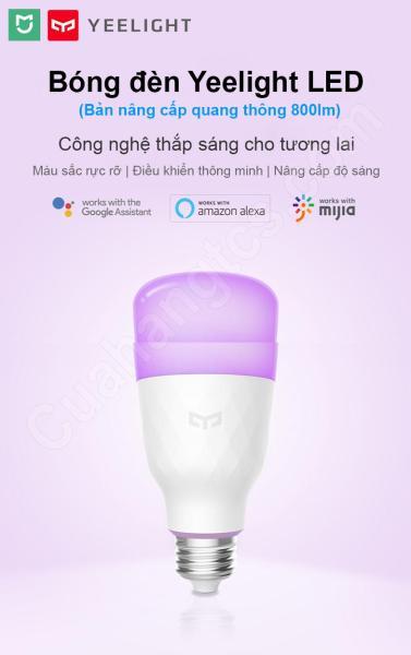 Bóng đèn thông minh Wifi Xiaomi Mijia Yeelight  Color E27 10W - Xiaomi
