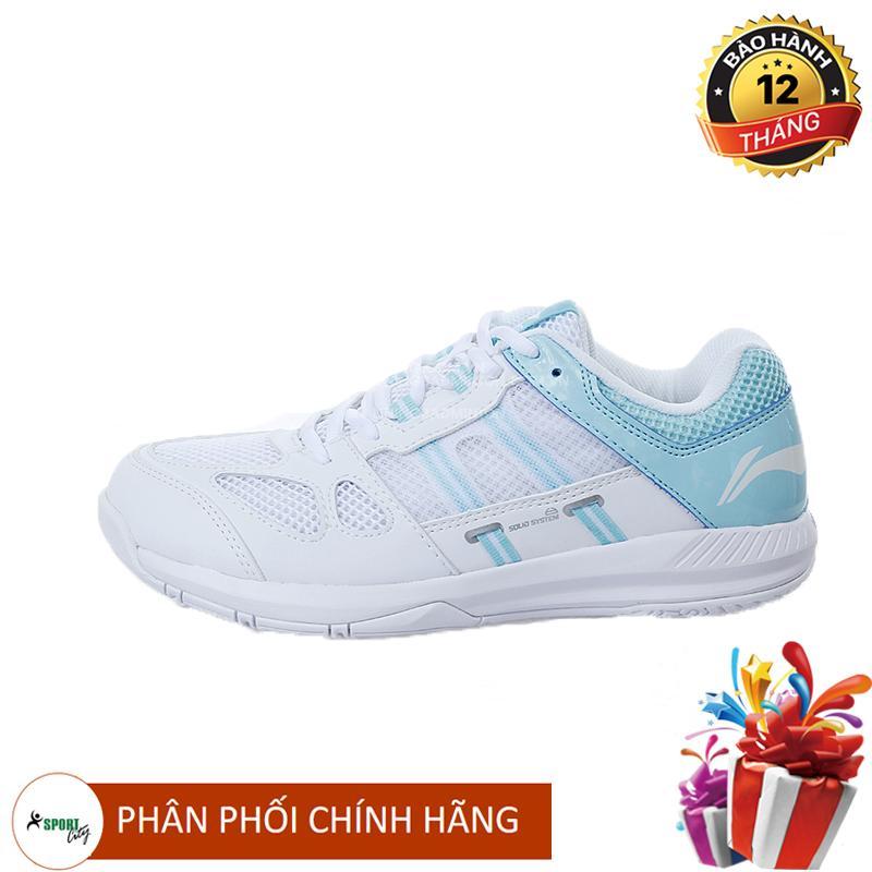 Bảng giá Giày cầu lông nữ Lining AYTN054-1 chuyên nghiệp, màu trắng, chơi được sân bê tông - Giày bóng chuyền nữ