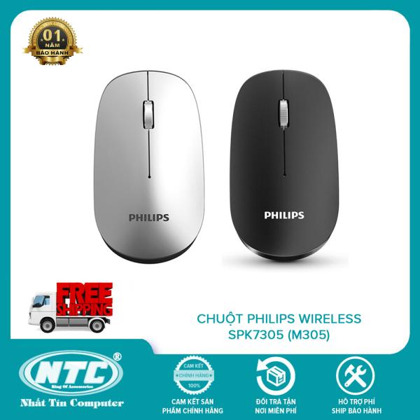 Bảng giá Chuột không dây wireless Philips SPK7305 (M305) - phiên bản silent click không âm thanh (2 màu tùy chọn) - Nhất Tín Computer Phong Vũ