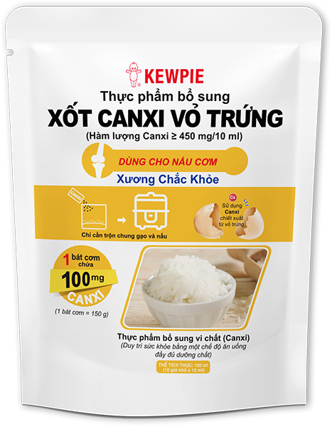Xốt Canxi Vỏ Trứng KEWPIE – Bịch 10 gói 10ml