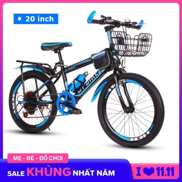 Giá bán Xe đạp trẻ em, xe đạp thể thao Size 20 inch cho bé từ 6-13 tuổi Có giỏ, gác baga và bình nước