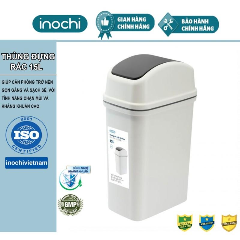 Thùng Rác Thông Minh,Nhựa Nắp Lật Inochi 5L-10L-15 Lít