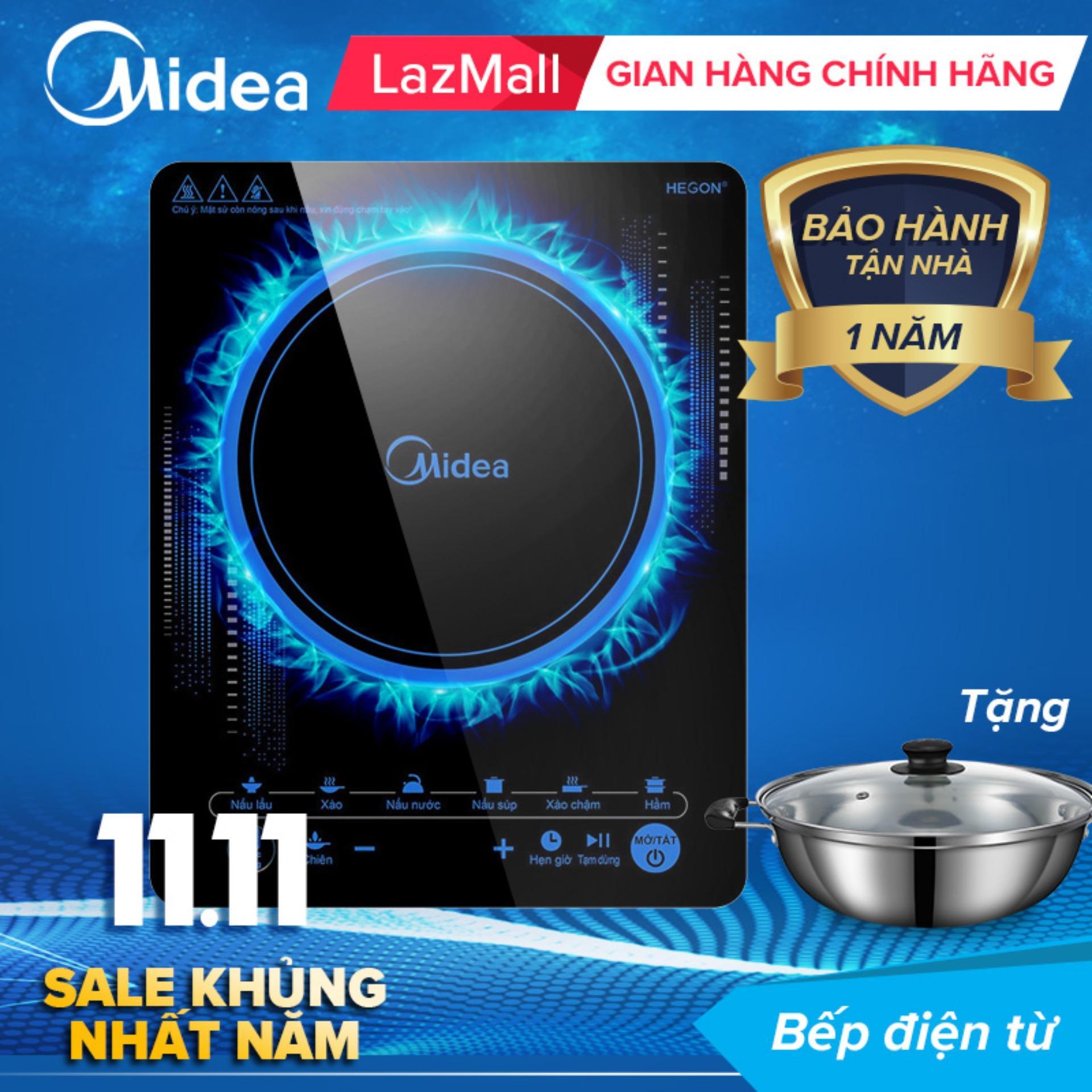 Midea bếp điện từ cảm ứng MI-T2117DC- Kính Cường Lực - Chống Nước- Phân Phối Chính Hãng