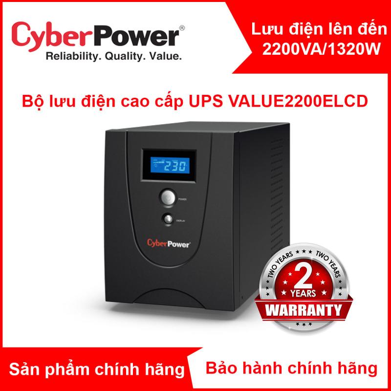 Bảng giá Bộ Lưu Điện CyberPower VALUE1200ELCD 1200VA/720W quản lý bằng phần mềm, chức năng AVR, công nghệ GreenPower UPS Phong Vũ