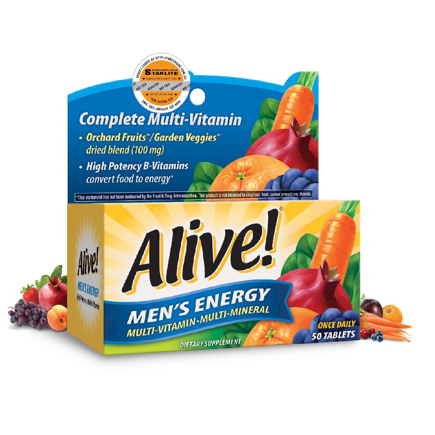 Vitamin tổng hợp nam giới Alive Men Energy 50 tabs