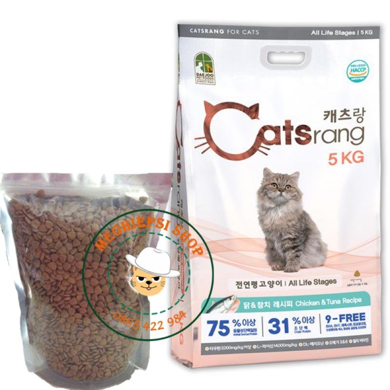 Thức ăn cho mèo Catsrang hàn quốc - túi zip 1kg