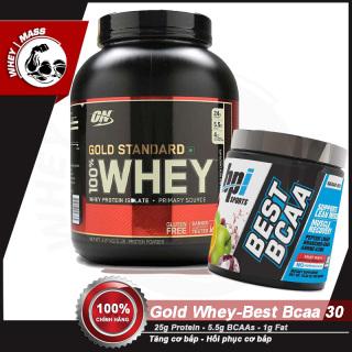 [COMBO] Tăng Cơ Bắp Hồi Phục Cơ Chống Dị Hóa Cơ ON Gold Stard 5lbs - Best BCAAs 30 servings - Từ Mỹ thumbnail