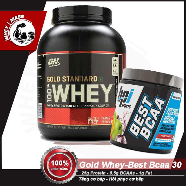 [HCM][COMBO] Tăng Cơ Bắp Hồi Phục Cơ Chống Dị Hóa Cơ ON Gold Stard 5lbs - Best BCAAs 30 servings - Từ Mỹ